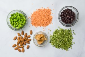 Examples of bean and nut protein foods